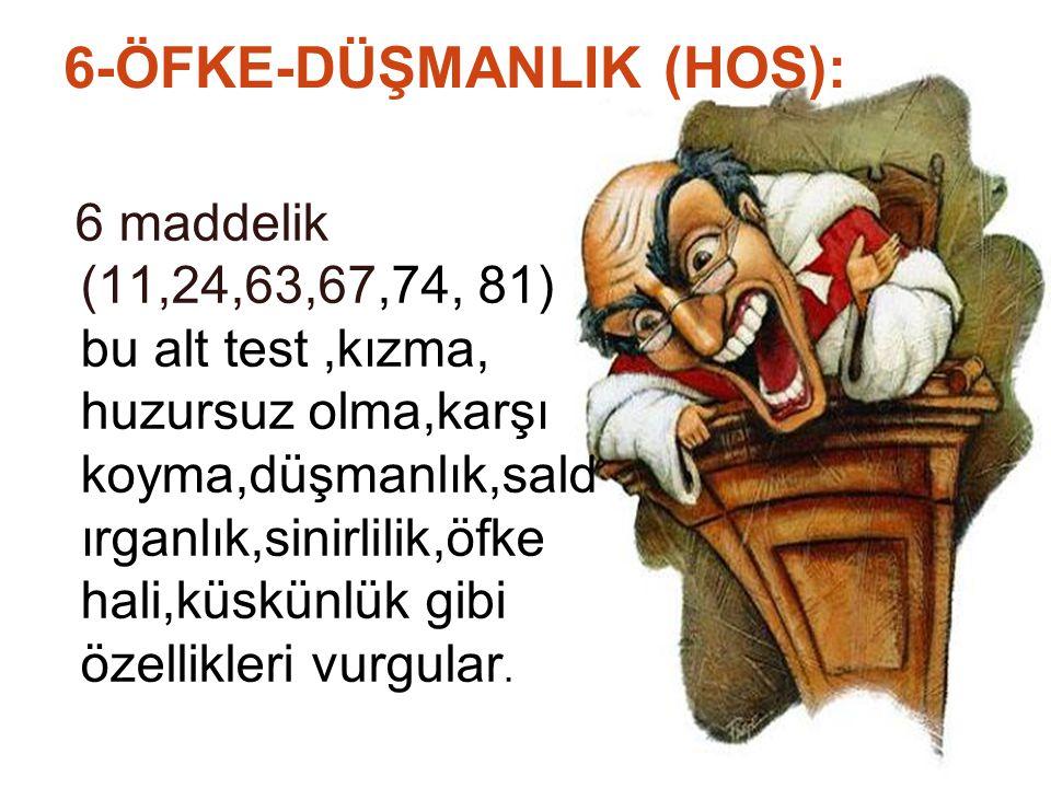 6-ÖFKE-DÜŞMANLIK (HOS):