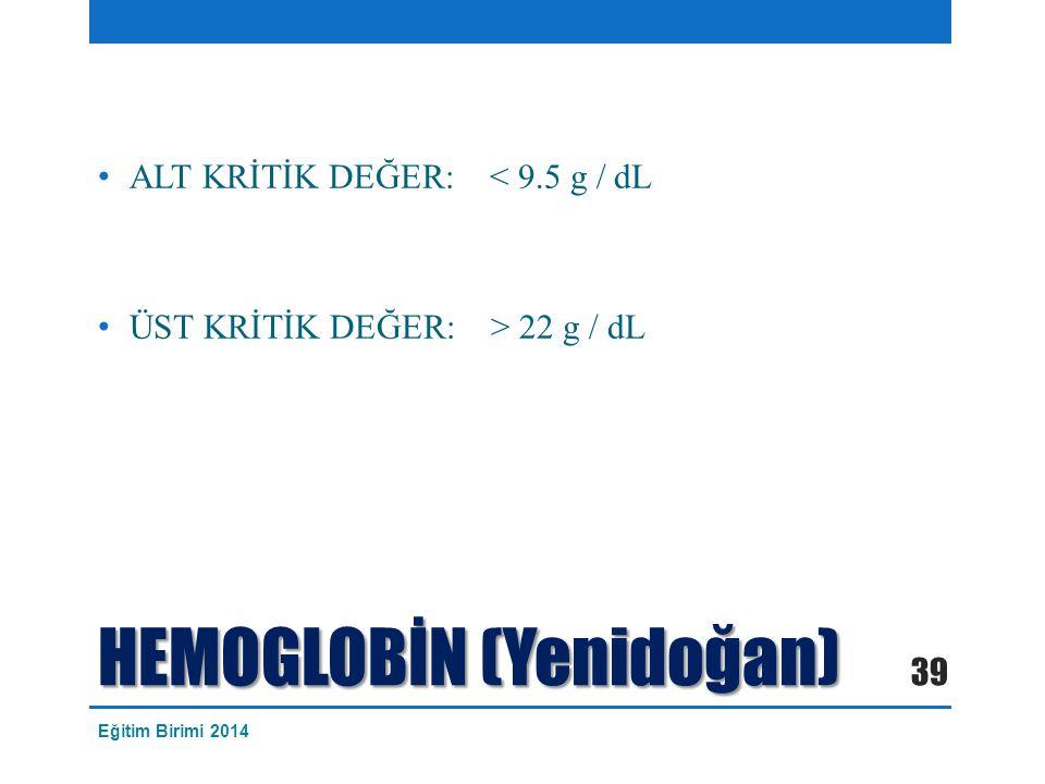 HEMOGLOBİN (Yenidoğan)