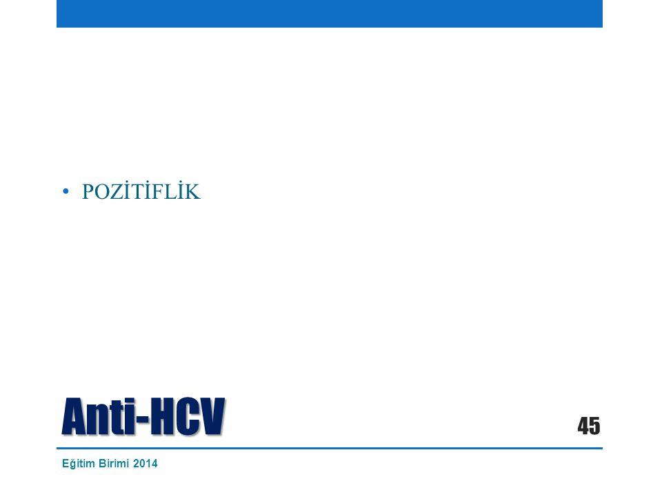 POZİTİFLİK Anti-HCV Eğitim Birimi 2014