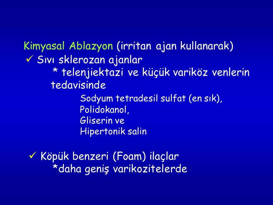 Kimyasal Ablazyon (irritan ajan kullanarak)
