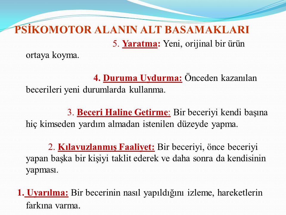 PSİKOMOTOR ALANIN ALT BASAMAKLARI