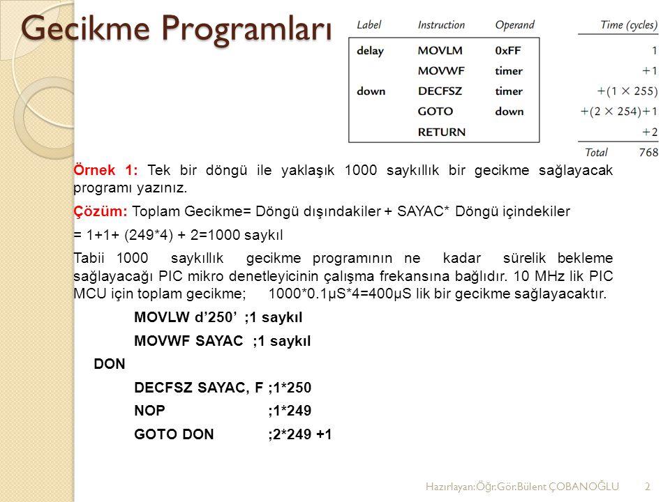 Gecikme Programları