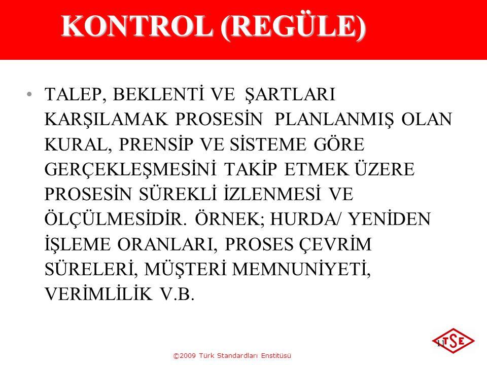 KONTROL (REGÜLE)