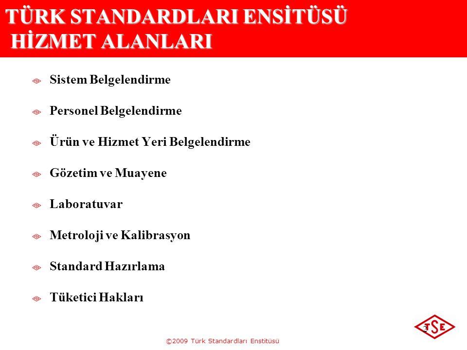 TÜRK STANDARDLARI ENSİTÜSÜ HİZMET ALANLARI