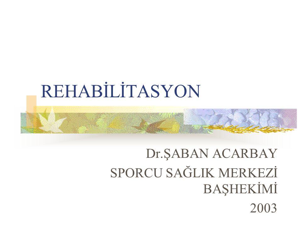 Dr.ŞABAN ACARBAY SPORCU SAĞLIK MERKEZİ BAŞHEKİMİ 2003