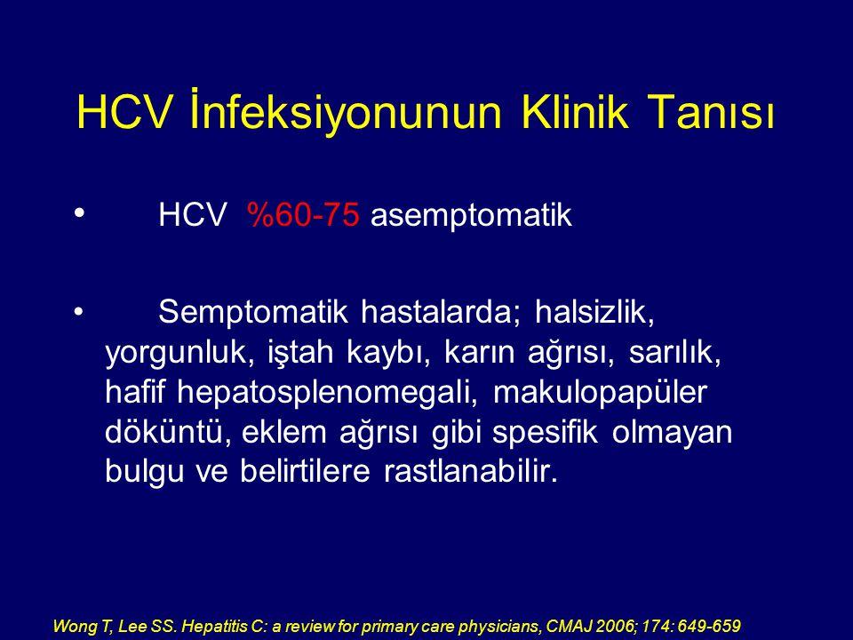 HCV İnfeksiyonunun Klinik Tanısı