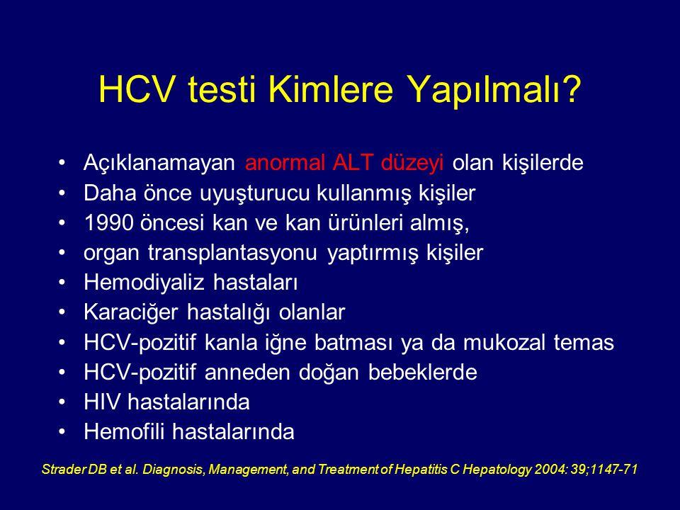 HCV testi Kimlere Yapılmalı
