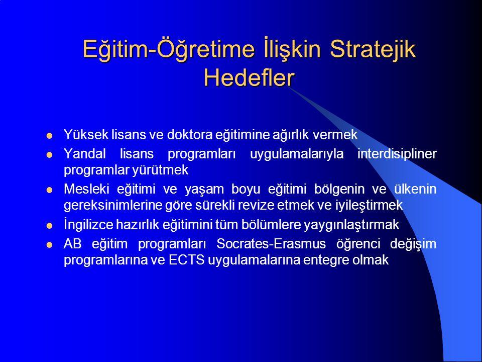 Eğitim-Öğretime İlişkin Stratejik Hedefler