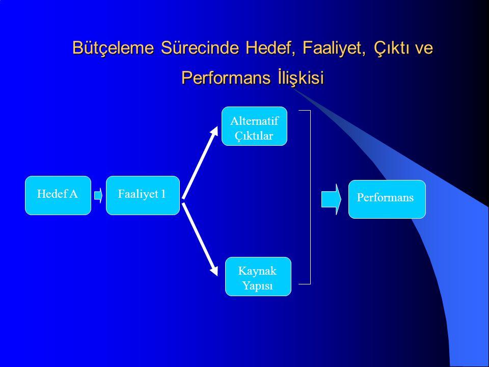 Bütçeleme Sürecinde Hedef, Faaliyet, Çıktı ve Performans İlişkisi