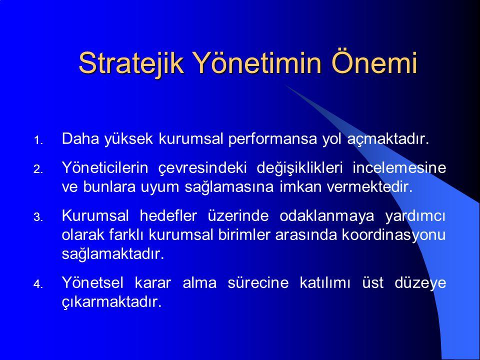 Stratejik Yönetimin Önemi
