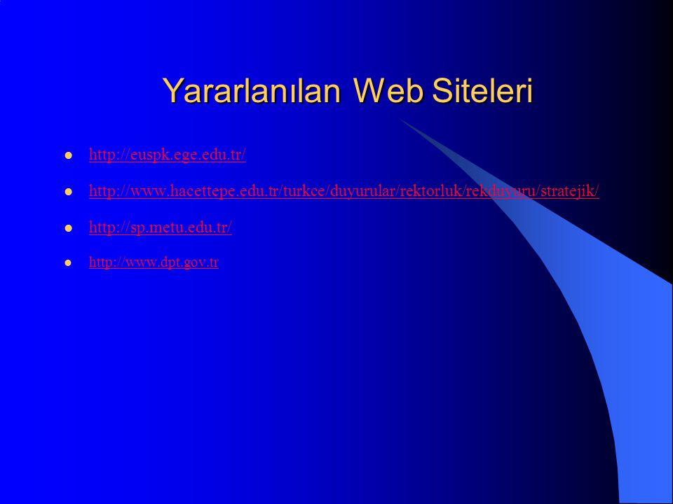 Yararlanılan Web Siteleri