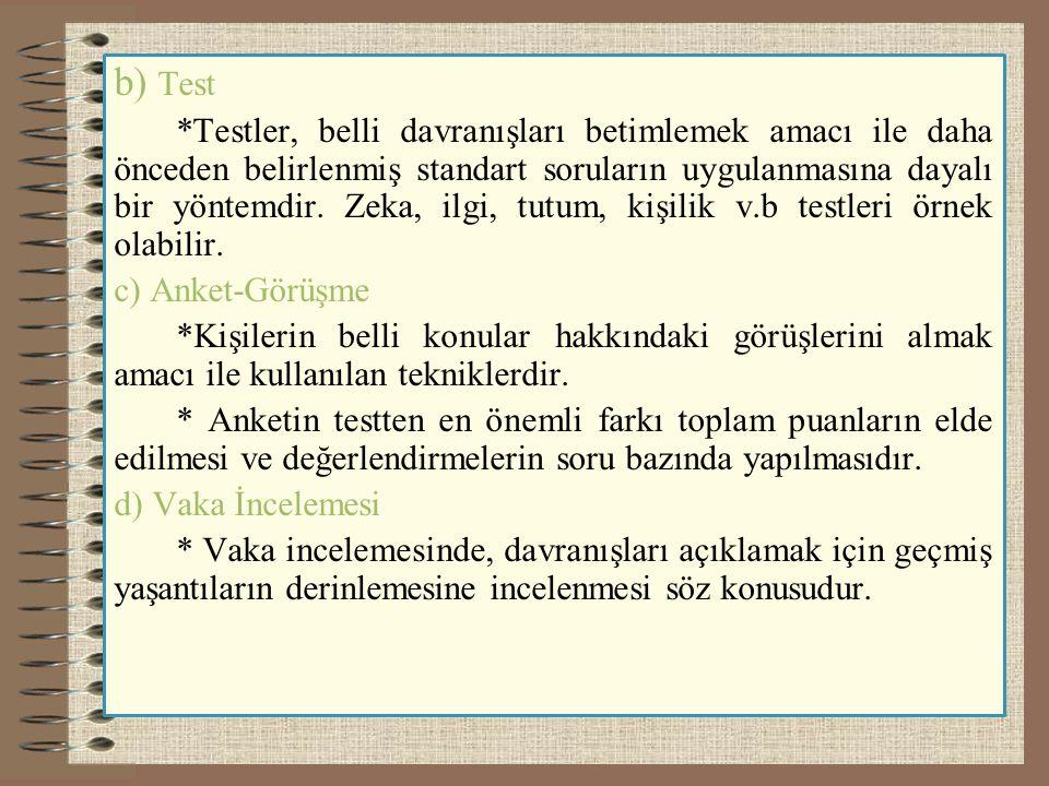 b) Test