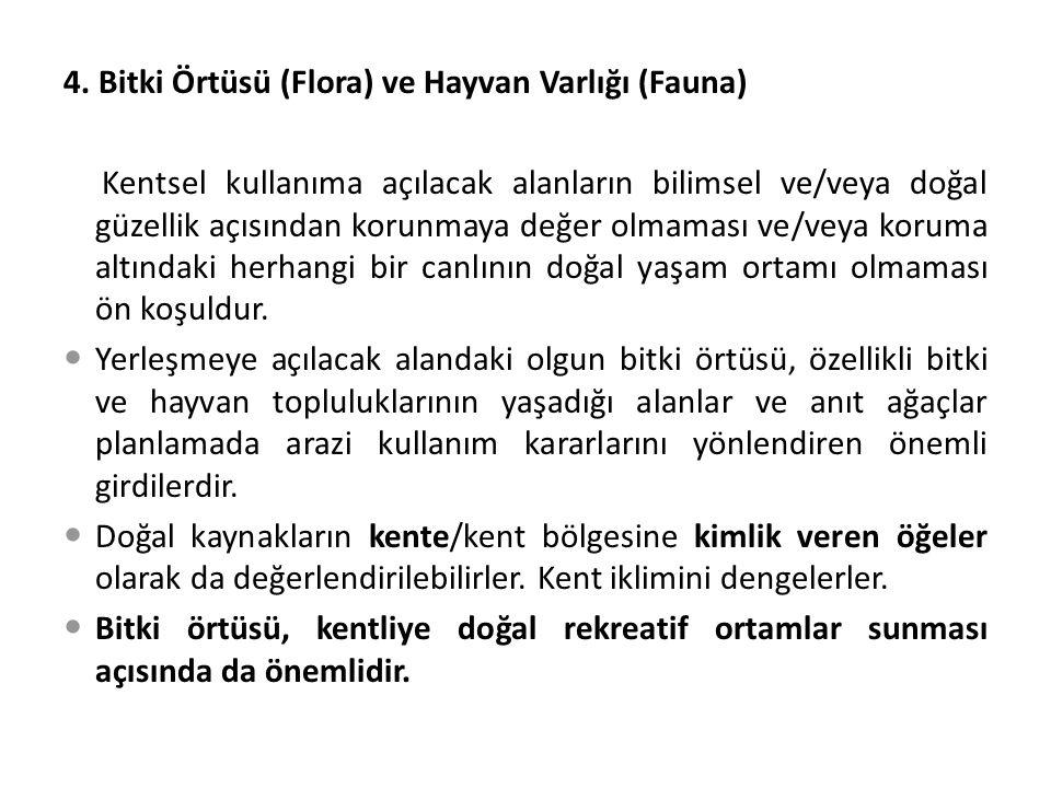 4. Bitki Örtüsü (Flora) ve Hayvan Varlığı (Fauna)