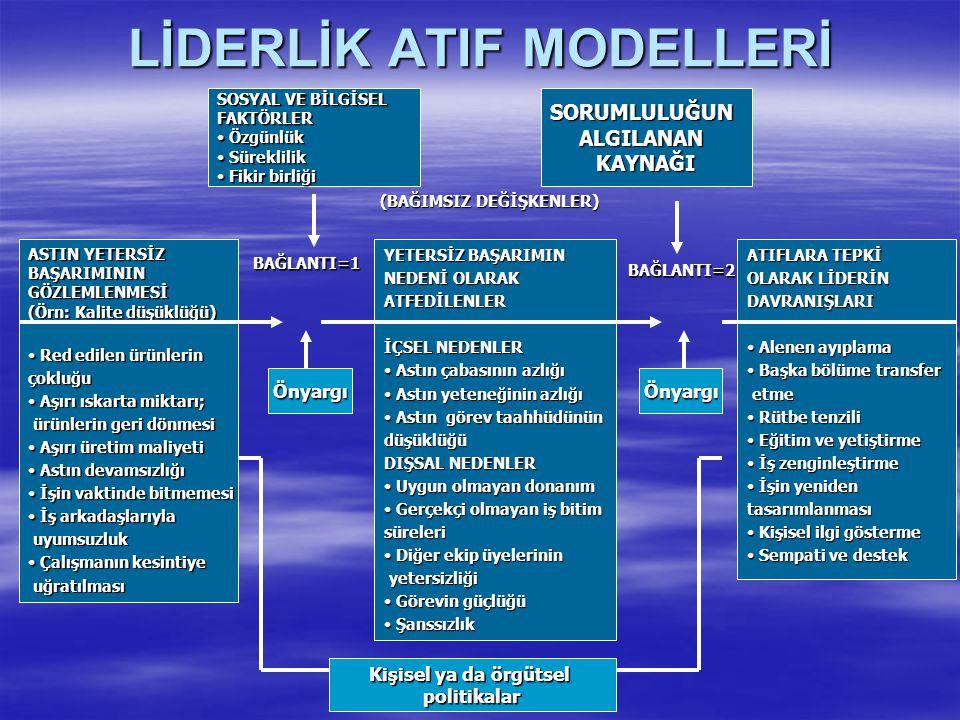 LİDERLİK ATIF MODELLERİ
