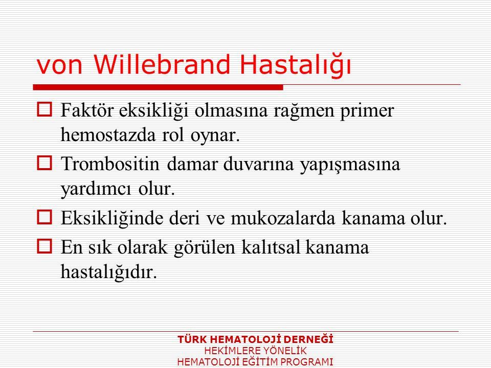 von Willebrand Hastalığı