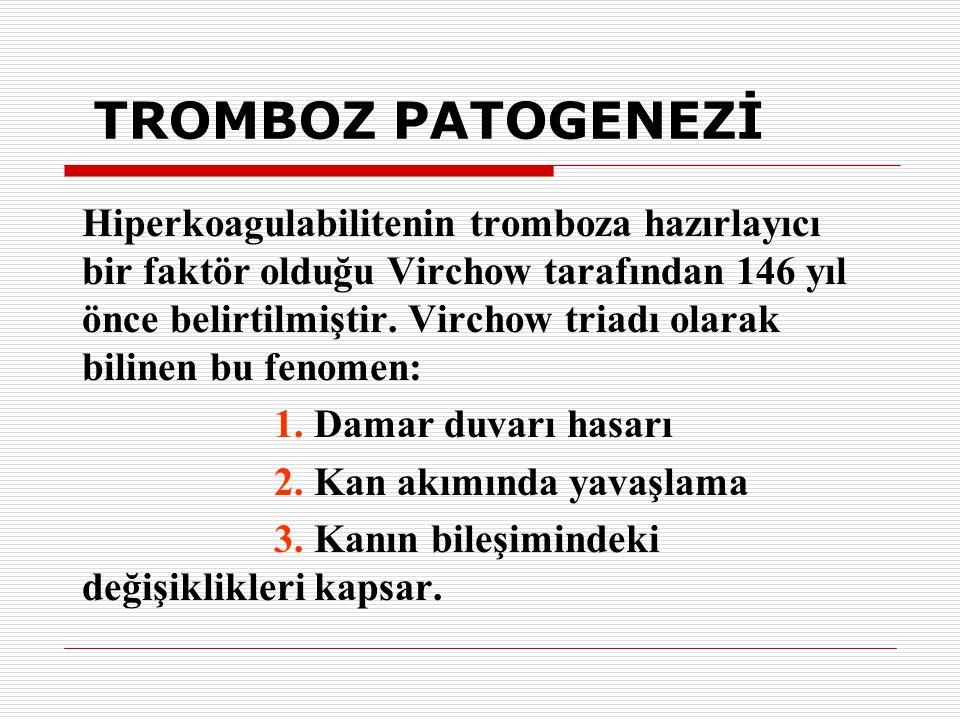 TROMBOZ PATOGENEZİ