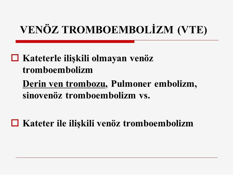 VENÖZ TROMBOEMBOLİZM (VTE)