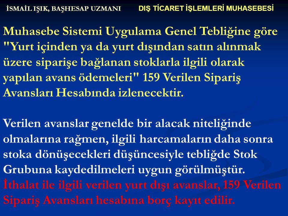 DIŞ TİCARET İŞLEMLERİ MUHASEBESİ