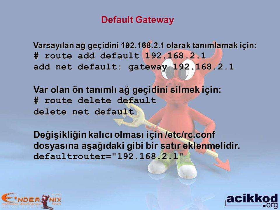 add net default: gateway 192.168.2.1
