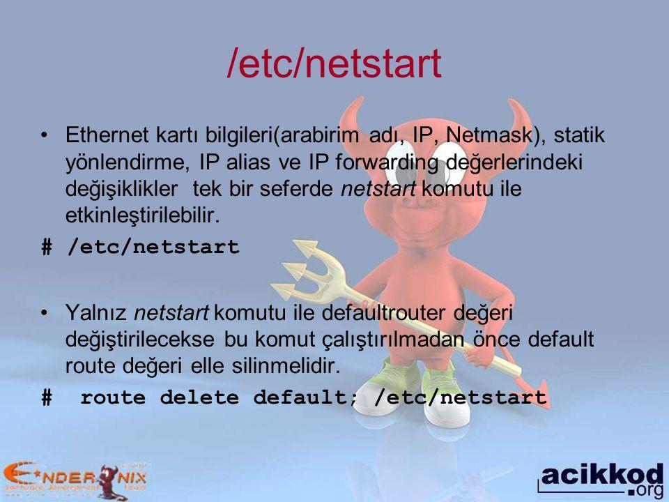 /etc/netstart