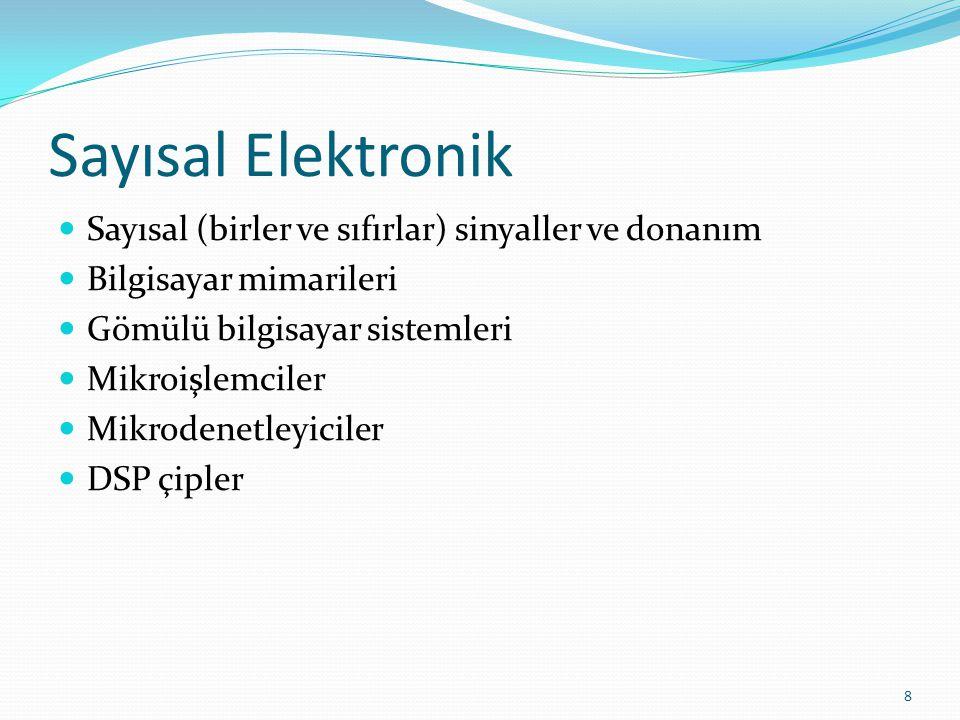 Sayısal Elektronik Sayısal (birler ve sıfırlar) sinyaller ve donanım