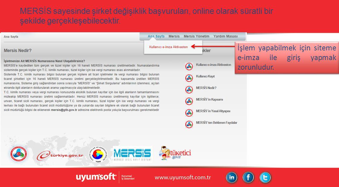 MERSİS sayesinde şirket değişiklik başvuruları, online olarak süratli bir şekilde gerçekleşebilecektir.