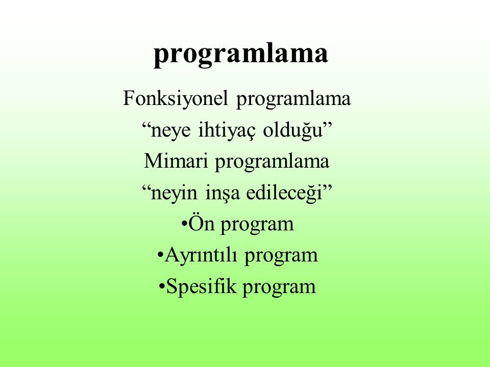 programlama Fonksiyonel programlama neye ihtiyaç olduğu