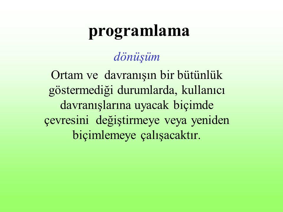 programlama dönüşüm.