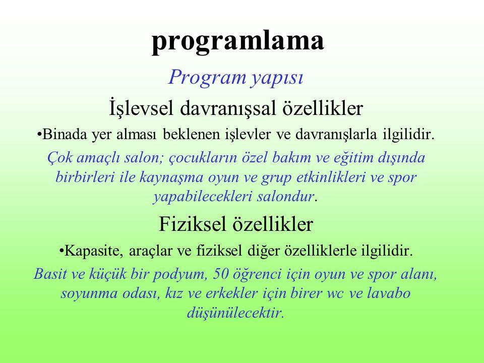 programlama Program yapısı İşlevsel davranışsal özellikler
