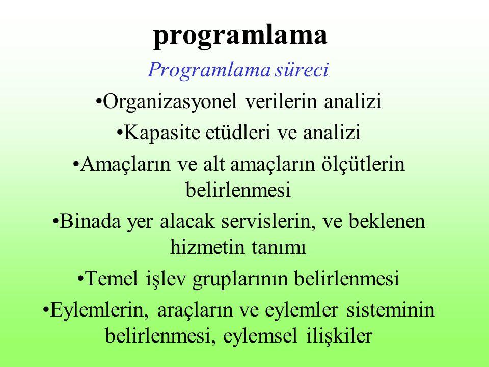 programlama Programlama süreci Organizasyonel verilerin analizi