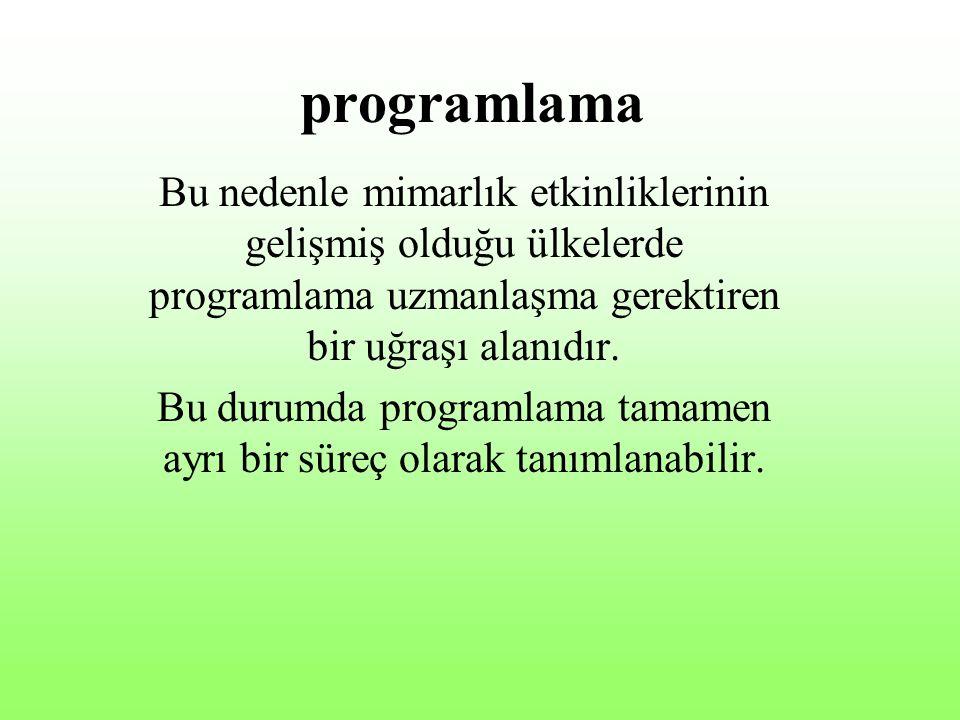 Bu durumda programlama tamamen ayrı bir süreç olarak tanımlanabilir.