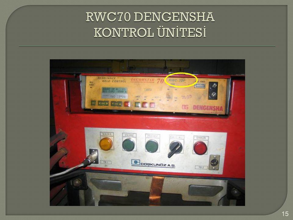 RWC70 DENGENSHA KONTROL ÜNİTESİ