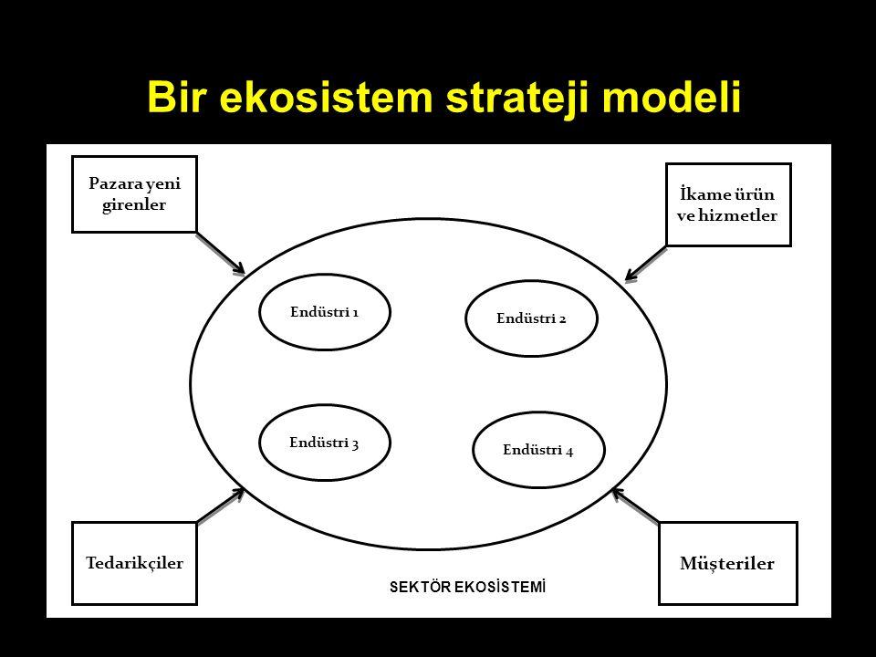 Bir ekosistem strateji modeli İkame ürün ve hizmetler