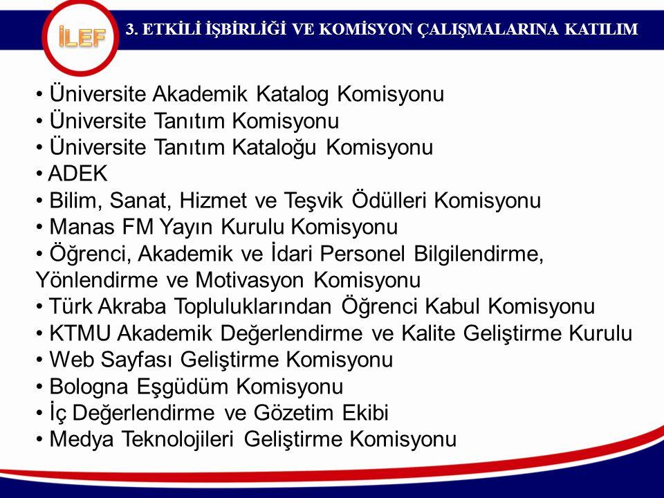 Üniversite Akademik Katalog Komisyonu Üniversite Tanıtım Komisyonu