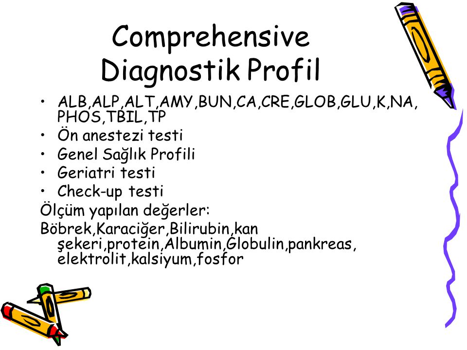 Comprehensive Diagnostik Profil