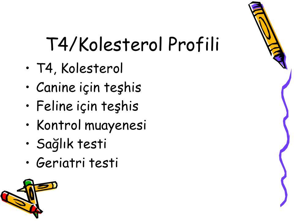 T4/Kolesterol Profili T4, Kolesterol Canine için teşhis