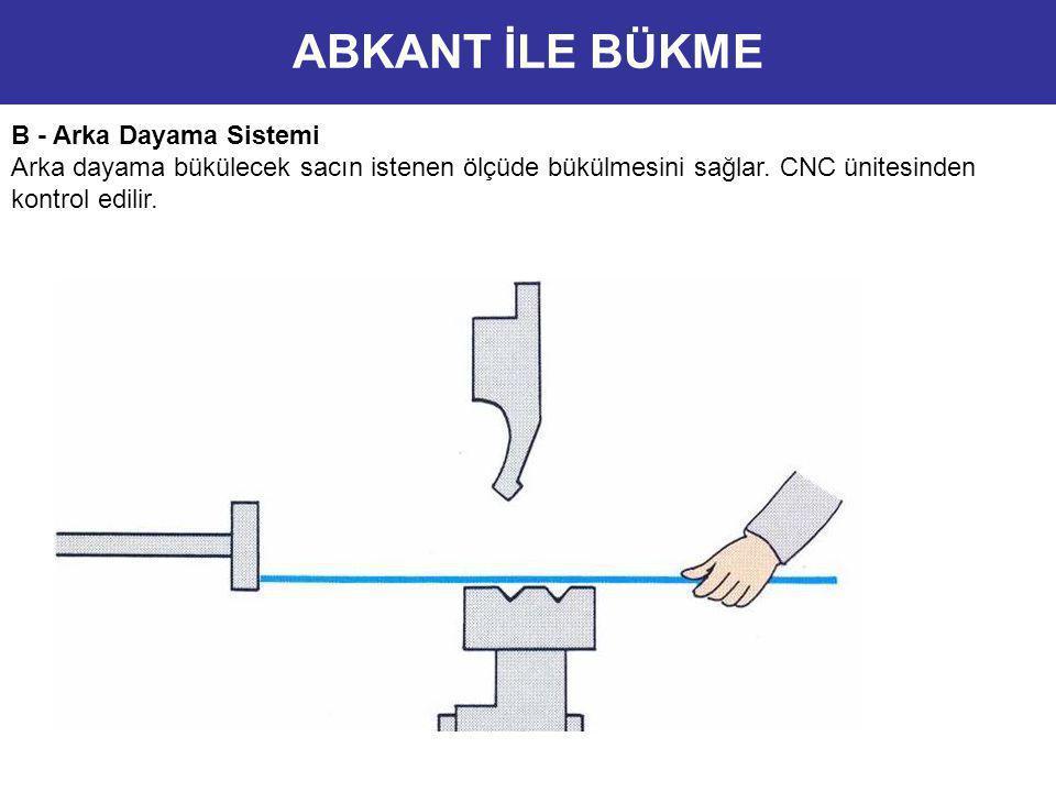 ABKANT İLE BÜKME B - Arka Dayama Sistemi