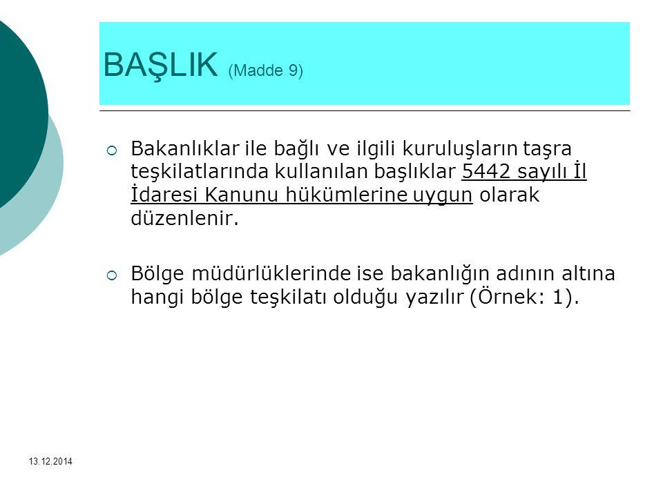 BAŞLIK (Madde 9)