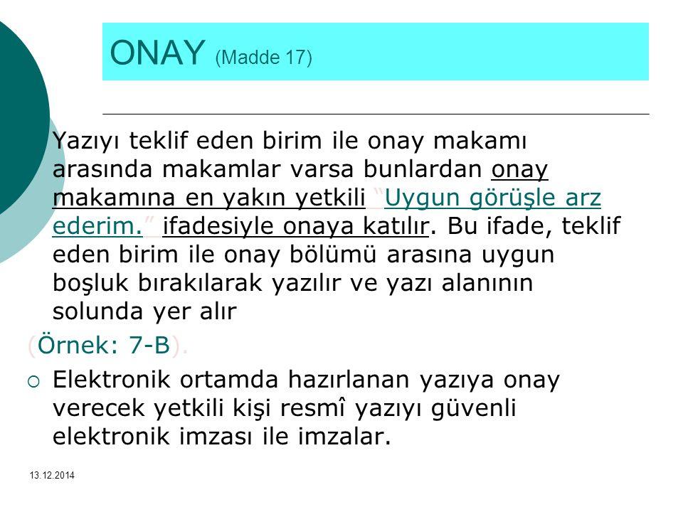 ONAY (Madde 17)