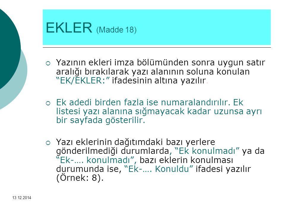 EKLER (Madde 18)