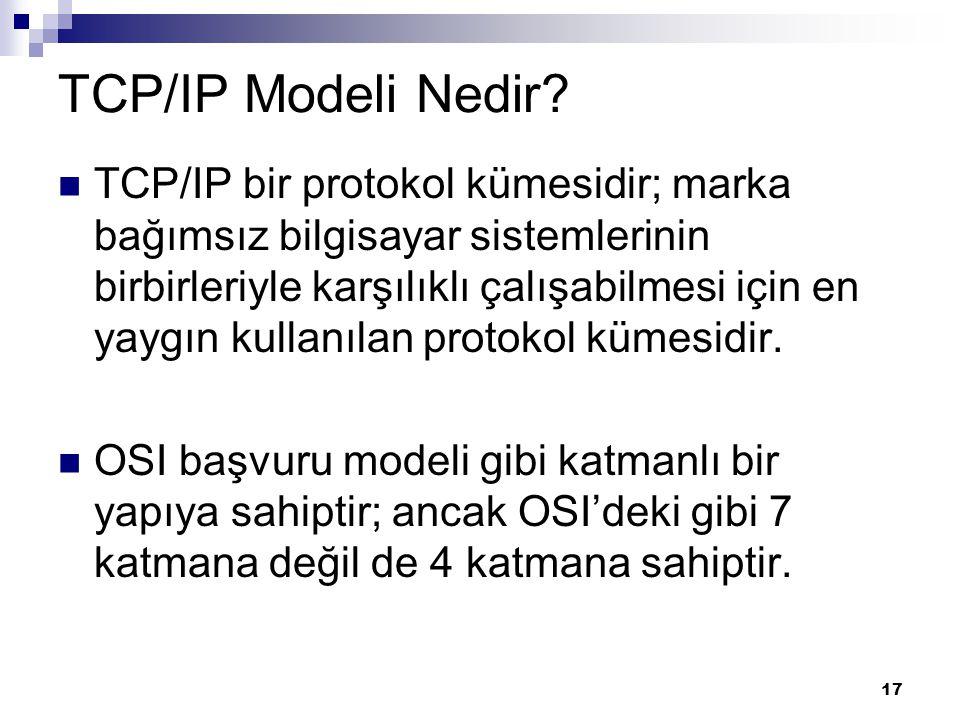 TCP/IP Modeli Nedir