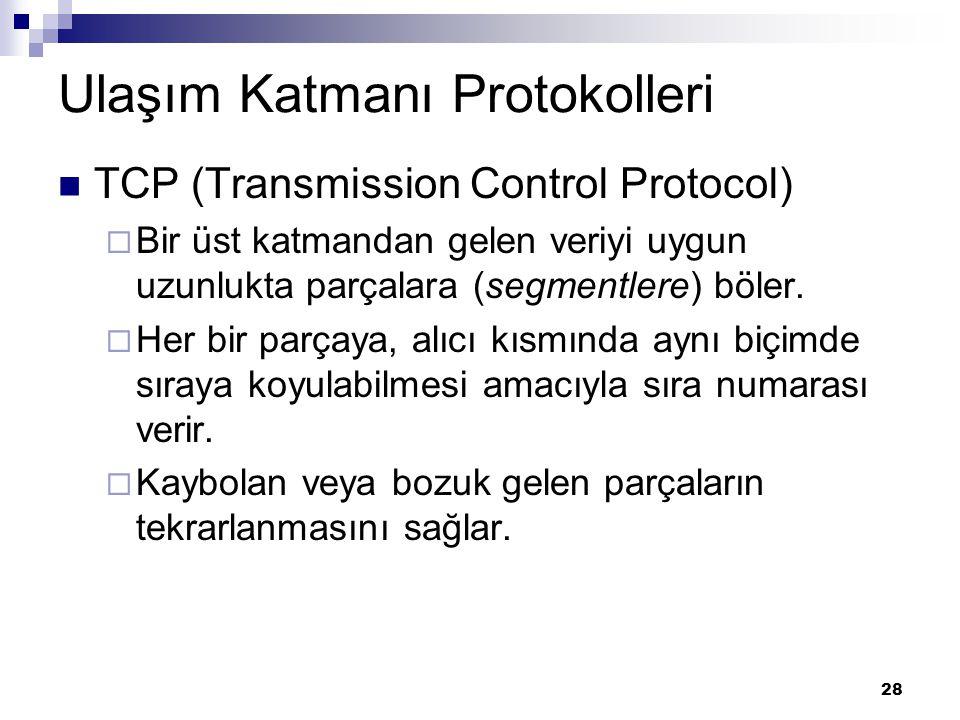 Ulaşım Katmanı Protokolleri