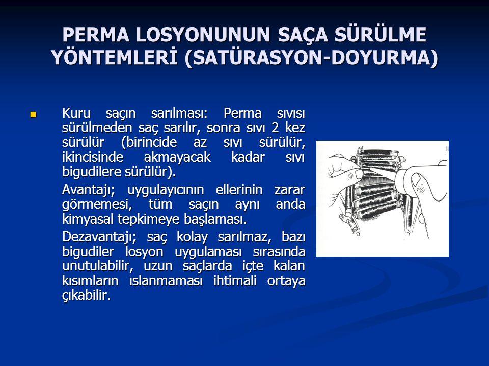PERMA LOSYONUNUN SAÇA SÜRÜLME YÖNTEMLERİ (SATÜRASYON-DOYURMA)
