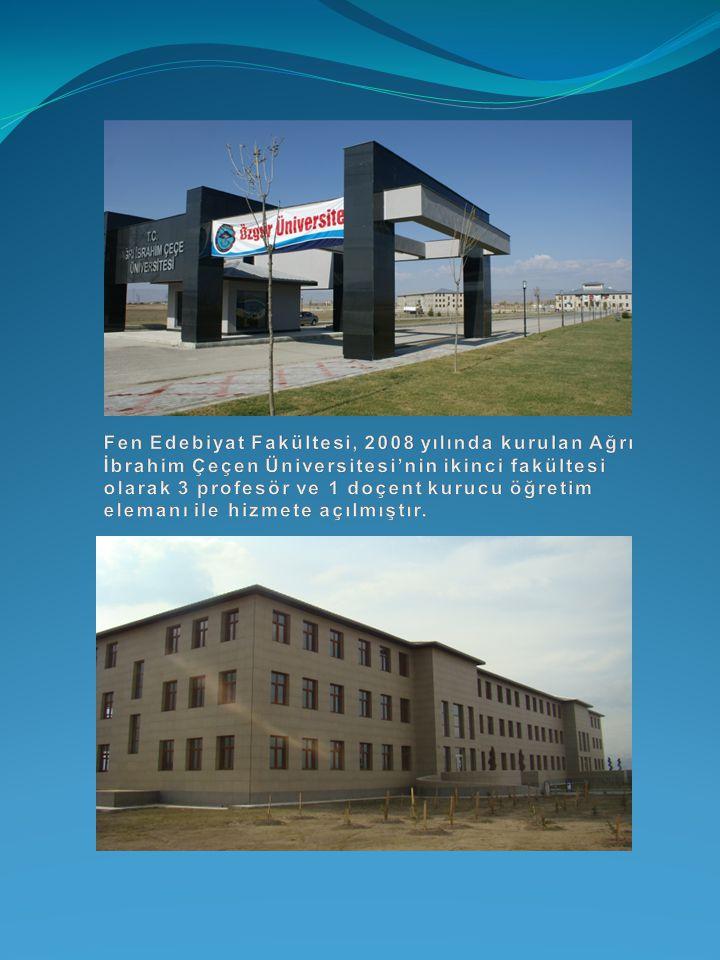 Fen Edebiyat Fakültesi, 2008 yılında kurulan Ağrı İbrahim Çeçen Üniversitesi'nin ikinci fakültesi olarak 3 profesör ve 1 doçent kurucu öğretim elemanı ile hizmete açılmıştır.