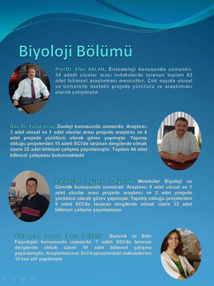 Prof. Dr. İrfan ASLAN, Entomoloji konusunda uzmandır
