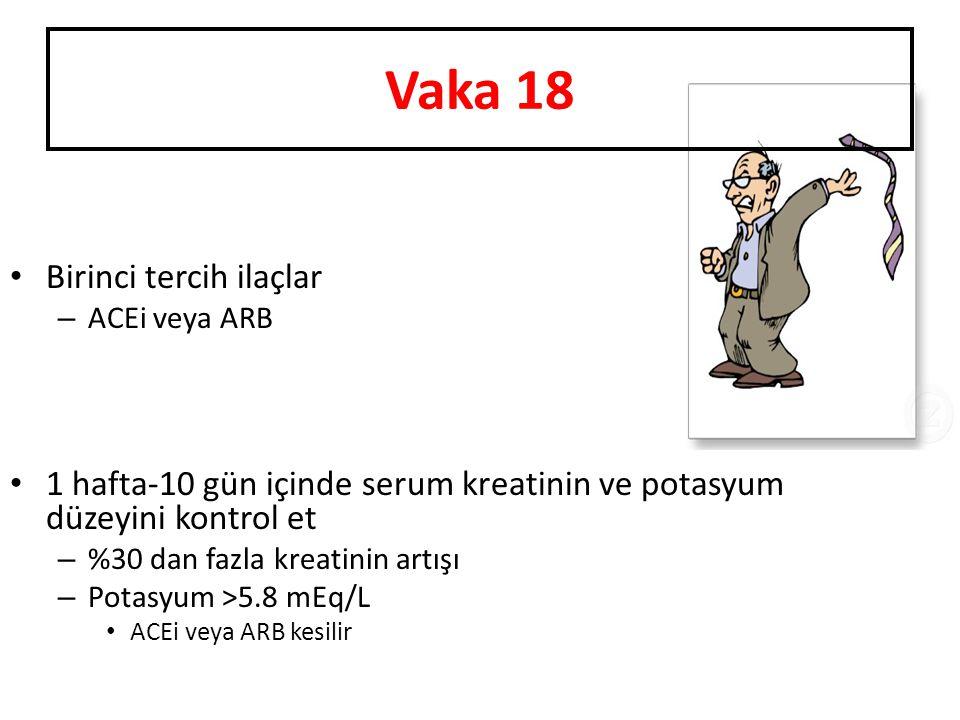Vaka 18 Birinci tercih ilaçlar