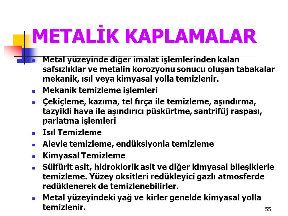METALİK KAPLAMALAR