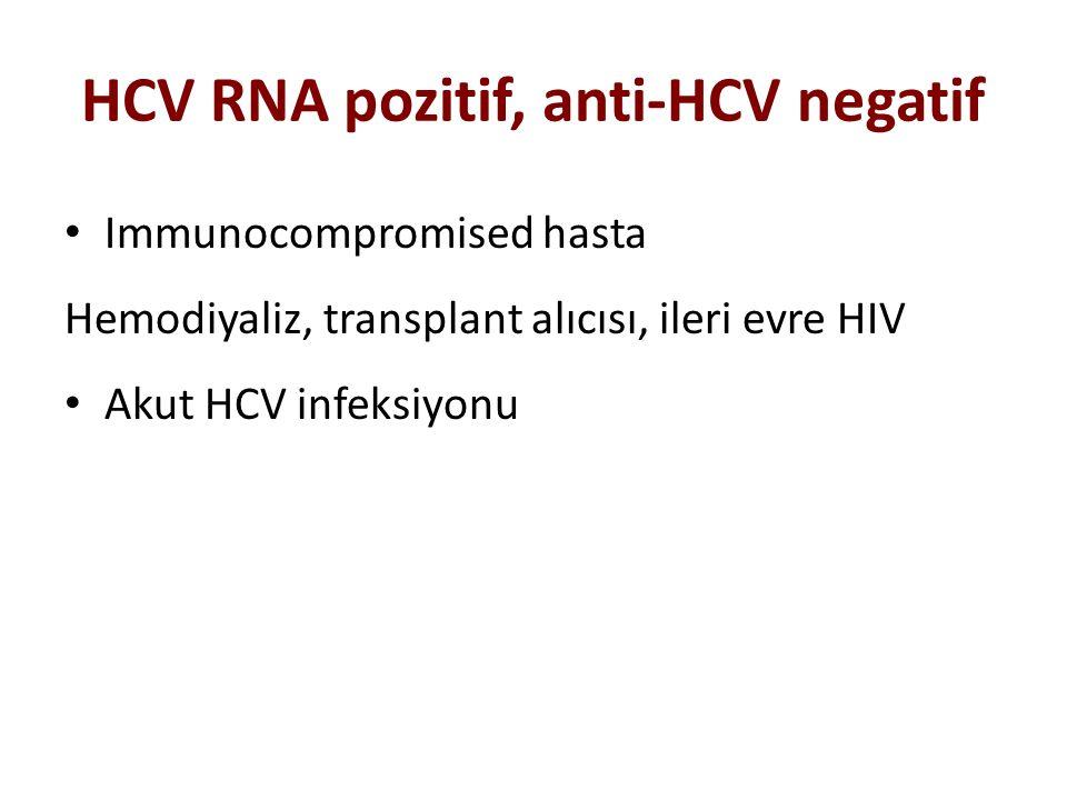 HCV RNA pozitif, anti-HCV negatif
