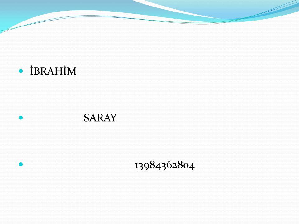 İBRAHİM SARAY 13984362804