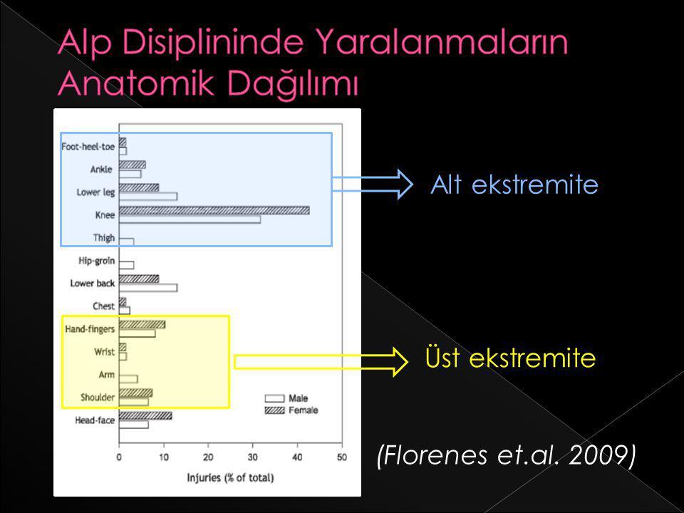 Alp Disiplininde Yaralanmaların Anatomik Dağılımı